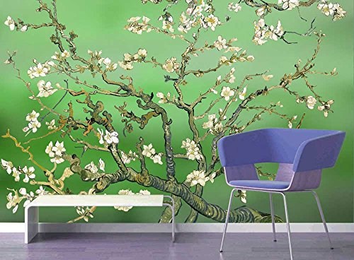Green Almond Blossom by Vincent Van Gogh Wall Mural