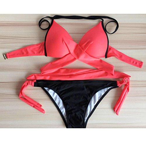 Rosso Monokini Costume Costume da UomoGo delle gelatina Bikini costume bagno Bagno donne increspato Da intero wOqOXx6