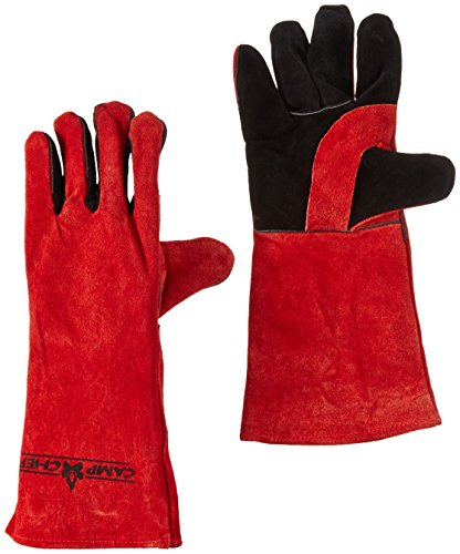 Camp Chef Heat Resistant Gloves for this awesome camping dutch oven pizza recipe
