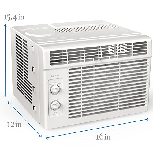 Home 5000 btu window mounted air conditioner compact 7 for 110v ac window unit