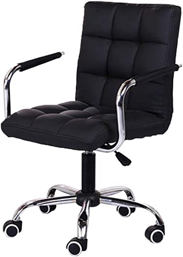 JIAOsuo698 Office Chair Home Leisure Swivel Chair Lift Chair Office Work Chair Fashion Beauty Salon Chair Staff Liftable Work Chair Leather Desk Gaming Chair Executive Task Chair USA Fastest Shipping
