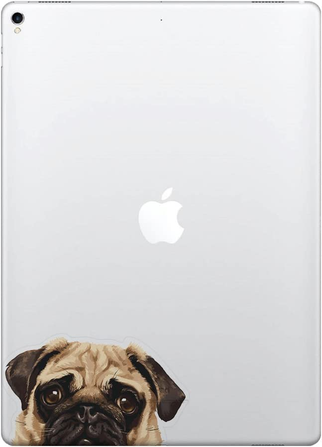 FINCIBO 5 x 5 inch Pug Puppy Dog Removable Vinyl Decal Stickers for iPad MacBook Laptop (Or Any Flat Surface)