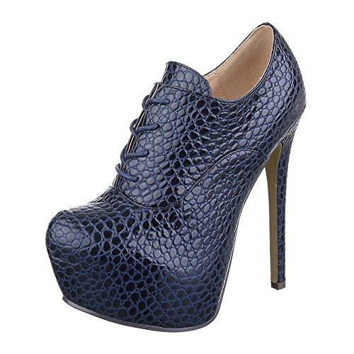 Ital-Design - Botas Chelsea Mujer Azul