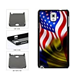 BleuReign(TM) Romania And USA Mixed Flag Plastic Phone Case Back Cover Samsung Galaxy Note III 3 N9002