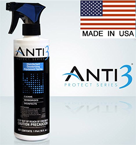Anti3 Protect Series Disinfectant Equipment Deodorizing Spray, 16 oz