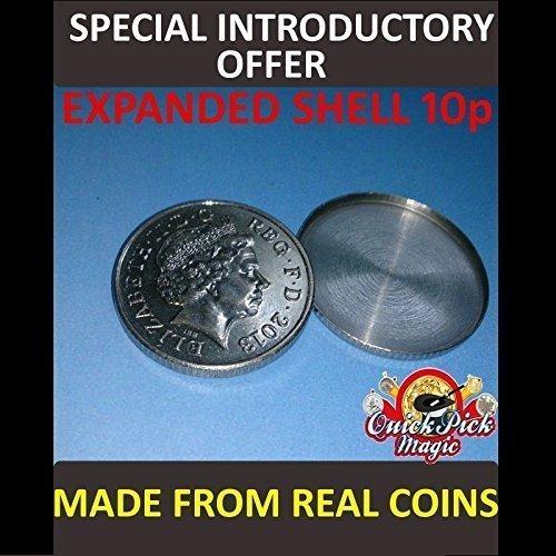 Quick Pick Magic 10p Erweiterte Gehäuse Münze Hergestellt Aus Echt