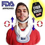 Premium Neck Traction Device | Neck Discs Cervical Collar Relieve | Inflatable Neck & Shoulders Relief Device | Perfect Adjustment Collar Air Pump Stretcher | Muscles & Nerve Pain Remedy