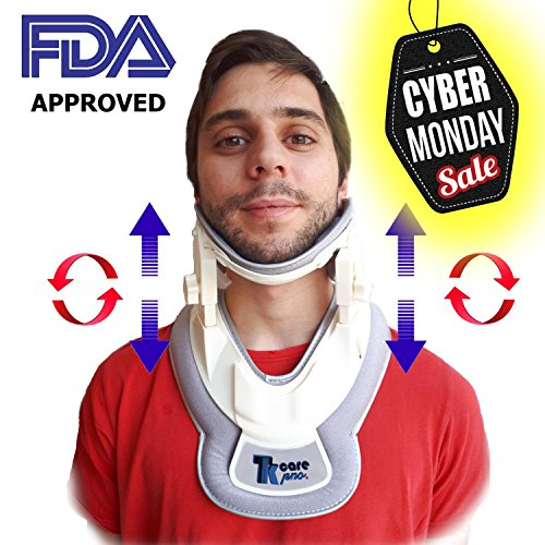 Premium Neck Traction Device | Neck Discs Cervical Collar Relieve | Inflatable Neck & Shoulders Relief Device | Perfect Adjustment Collar Air Pump Stretcher | Muscles & Nerve Pain Remedy by TK Care Pro.