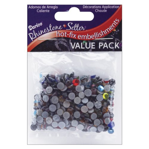 Rhinestone Setter - Darice Rhinestone Setter Hot-Fix Embellishments 5mm 400/Pkg: Multi Glass Stone