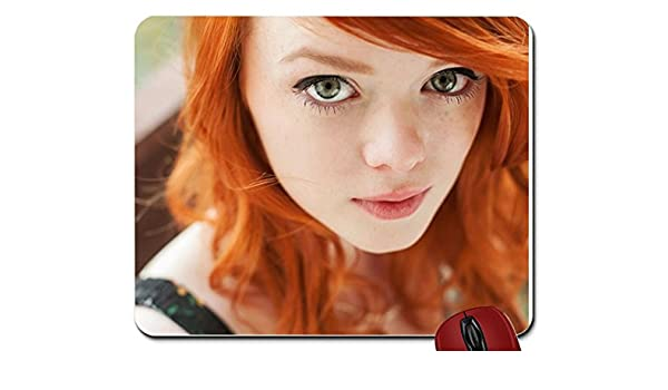 Tattoos Women Redheads Green Eyes Faces Lass 1600x1067 Wallpaper Mouse Pad Computer Mousepad Amazon Ca Clothing Accessories