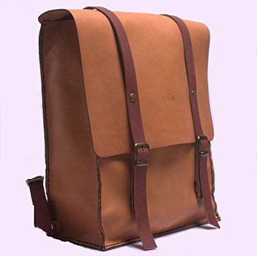 Natural Leather Women's Handmade Backpack