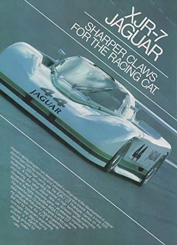 Magazine Print ad: 1986 Jaguar XJR-7 GT Prototype Le Mans Racer #44, Lee Dykstra designed, 12 cylinder, 650 hp, 220 mph,