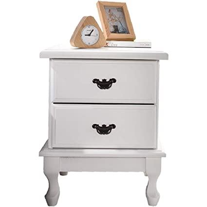 b33cdb8b7b XF Nightstands Solid Wood Paulownia Wood Bedside Table European White  Bedside Cabinet Simple Modern Bedroom Mini