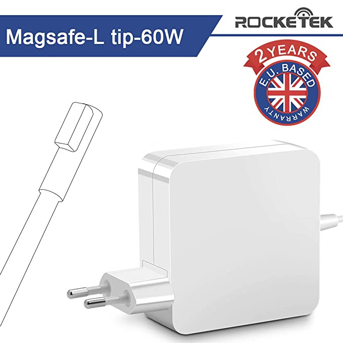 Rocketek Compatible 60W Mac Book Pro Cargador, Magsafe 2 Adaptador ...