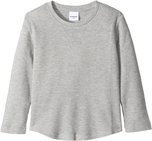 SUPERISM Baby Boy's Randy Thermal Long Sleeve Tee (Toddler/Little Kids/Big Kids) Grey Heather 7 | SM