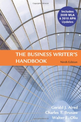 Business Writer's Hdbk.,09 Mla/10 Apa