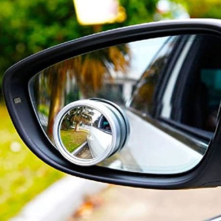 Viviance Silver Universal Auto Side Blind Spot Mirror Wide Angle View Safety
