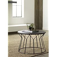 Elle Decor Fleur Coffee Table, Black