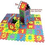 kigin Kid's Foam Floor Alphabet and Number Puzzle Mat, Multi-color Puzzle Toy (36 Piece)
