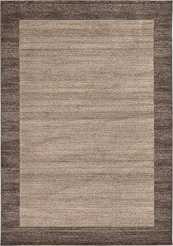 Unique Loom Del Mar Collection Contemporary Transitional Light Brown Area Rug (7' 0 x 10' 0) ()