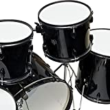 Drum-Set-5-PC-Complete-Adult-Set-Cymbals-Full-Size-Black-New-Drum-Set