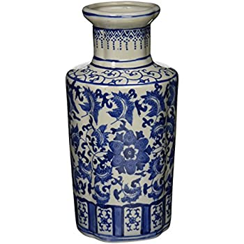 Amazon Oriental Furniture 12 Floral Blue White Porcelain
