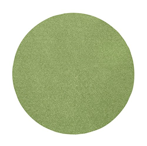 Ambiant Pet Friendly Solid Color Lime Green 6' Round - Area Rug (Green Rug Solid Round)