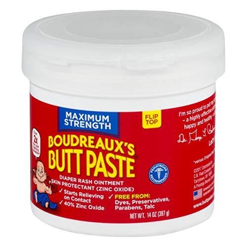 Boudreaux's Butt Paste Diaper Rash Ointment | Maximum Strength | 14 oz. Jar | Paraben & Preservative Free