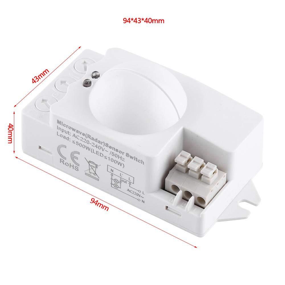 Interruptor De Luz De Radar Interruptor De Luz De Microondas De 360 Grados Detector De Movimiento De Radar 500w Interruptor De Luz Inteligente De ...