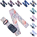 Adjustable Luggage/Suitcase Straps/Belt Tsa Approved - Lockable Travel Accessory - TSA Combination Locking - with Integrated TSA (Travel Sentry Approved) Lock - Stamps Vintage