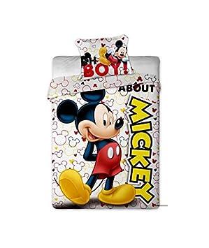 Parure De Lit Mickey Disney Housse De Couette Taie Lit 1 Personne