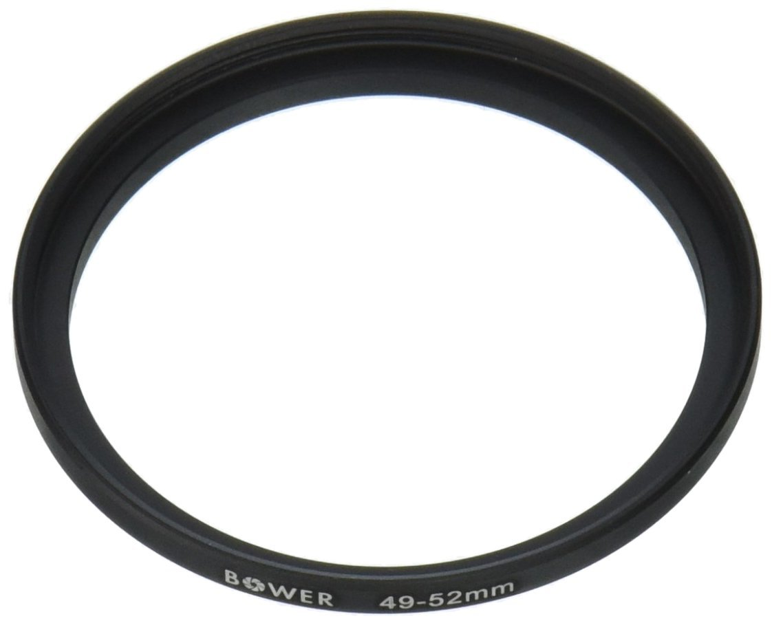 Adorama Step-Up Adapter Ring 49mm Lens to 52mm Filter Size