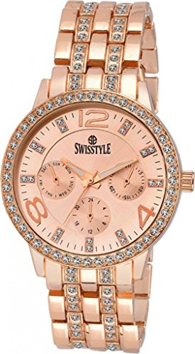SWISSTYLE Analogue Women's Watch (Rose Gold Dial Rose Gold Colored Strap)