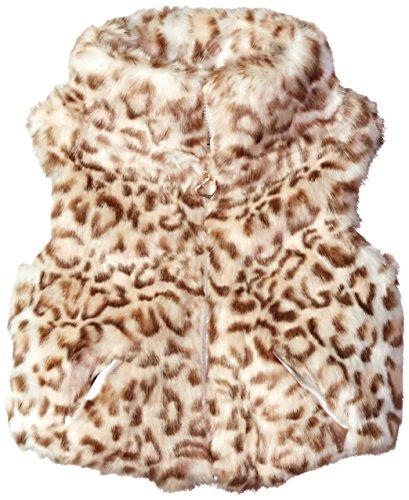 - Urban Republic Baby Ur Girls Faux Fur Vest, Cheetah Print, 24M