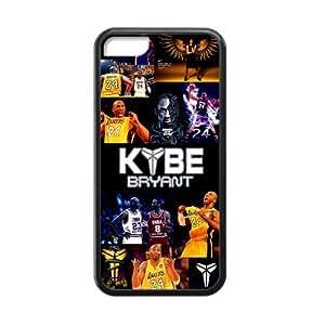 Artsy Artistic Los Angeles Lakers Kobe Bryant Apple Iphone 5C Case Cover TPU Laser Technology #24 Peter Pan Black Mamba VINO Marilyn Monroe Best