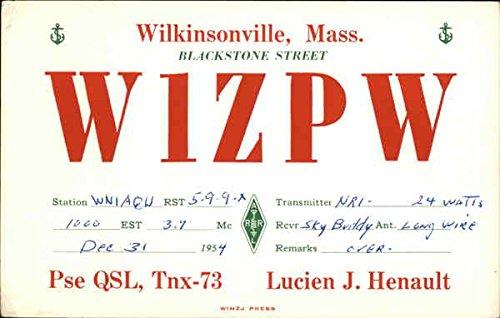 Call Sign W1ZPW - Lucie J. Henault, Wilkinsonville MA QSL & Ham Radio Original Vintage Postcard