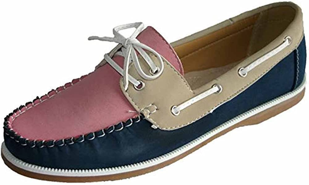 Ladies Coolers Faux Nubuck Leather Loafer Slip-On Boat Deck Shoes