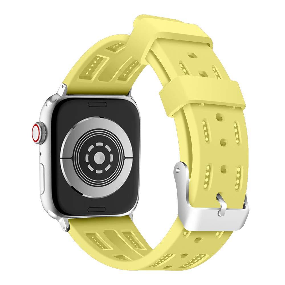 para Apple Watch Series 4 40mm,44mm Pulsera de Pulsera Deportes Recambio de Pulseras Ajustable Accesorios Reemplazo de Silicona Banda de Correa para niñas: ...