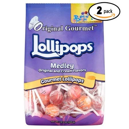 Original Gourmet Medley Original and Cream Lollipops, 50 count, 18.5 oz (Pack Of 2)