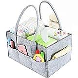 Baby Diaper Caddy Organizer By Brolex: Large Capacity Nursery Organizer For Boys Girls– Unisex Portable Travel Organizing Basket With Lightweight, Sturdy & Versatile Design,Grey