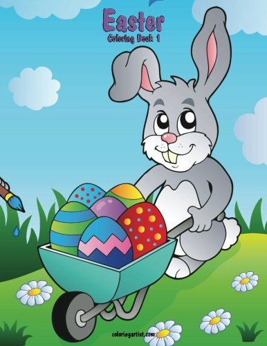 Easter Coloring Book 1 (Volume (Easter Bunny Crafts For Preschoolers)
