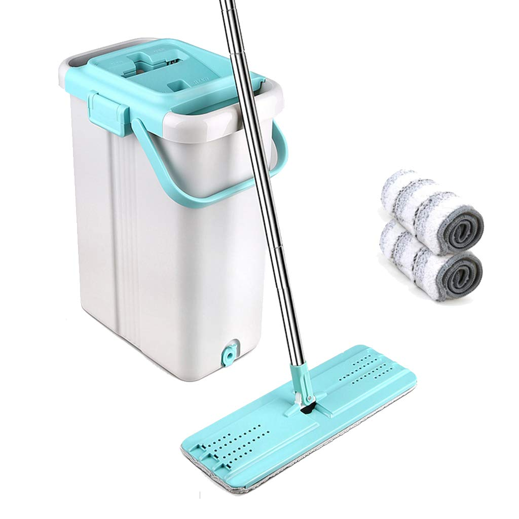 Happy Time Flat mop Free Hand-Washing Rotary Flat mop Tile Home Cleaning Brush dust Free Hand wash Suitable for Home Classroom Office etc,B by Happy Time