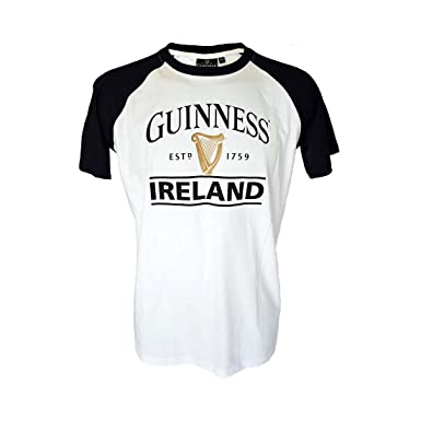 Black And White Guinness Ireland Est 1759 T Shirt With Harp Design