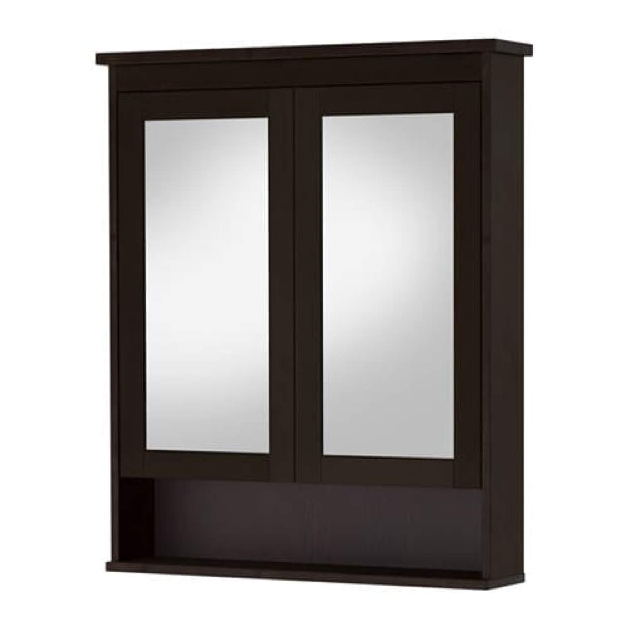 Ordinaire Amazon.com: IKEA Hemnes Mirror Cabinet With 2 Doors Black Brown Stain  602.176.76 Size: 32 5/8x6 1/4x38 5/8: Home U0026 Kitchen