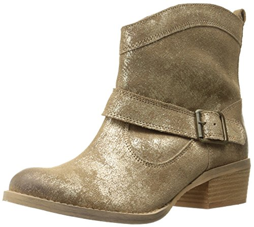 Naughty Monkey Women's Metalicah Ankle Bootie, Gold, 7.5 M ()