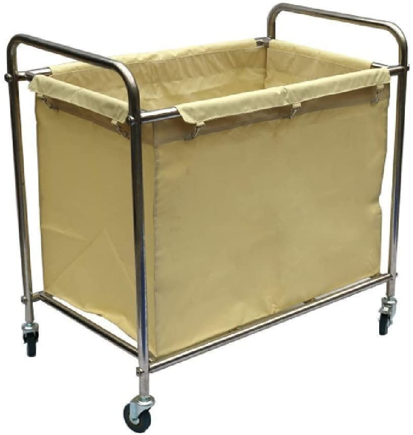Commercial Service Trolley for Laundry Room Laundry Sorters Laundry Hamper Sorter Cart with 2 Removable Bags and Mute Wheels Hospital