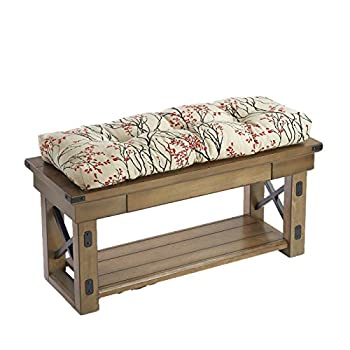 """36"""" Extra Thick Cherry Tree Patterned Non Slip Bench Pad Cushion"""