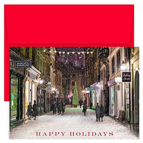 Masterpiece Holiday Collection 18-Count Christmas Cards, Christmas Shopping ()