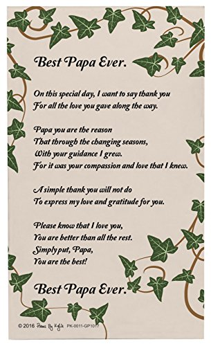 Papa Gifts Best Papa Ever Papa Poem Decorative Poetry Award Gift Plaque Glass Plaque