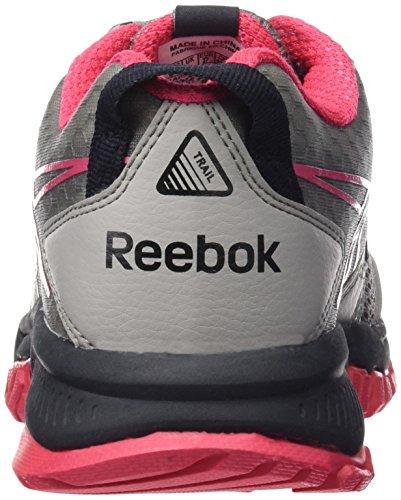 Reebok Ridgerider Trail Zapatillas de deporte, Mujer Gris / Negro / Rosa / Blanco (Tin Grey/Black/Coal/Fearless Pink/White)